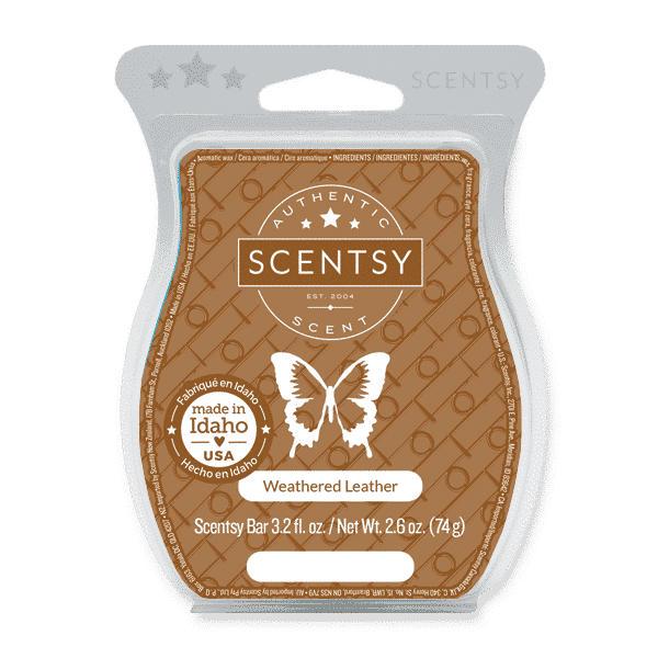 scentsy weathered leather wax