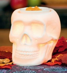 skull warmer by scentsy