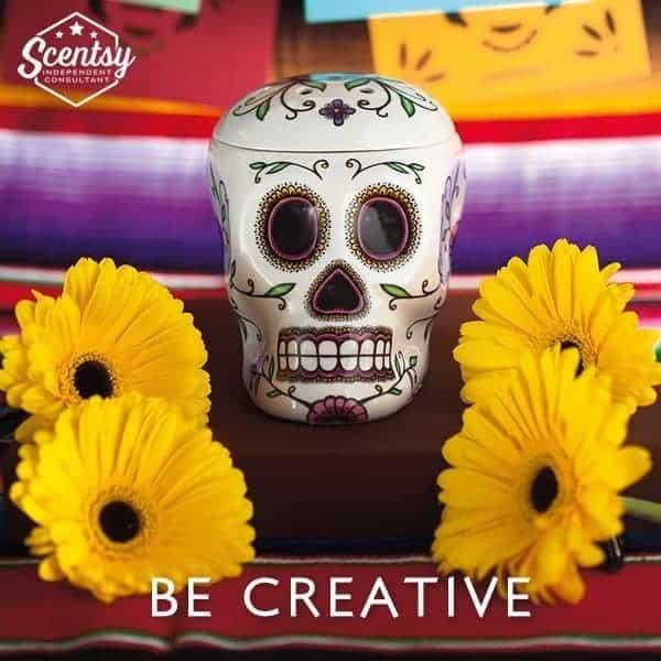 Scentsy Skull Warmer Sugar Skull Day Of The Dead