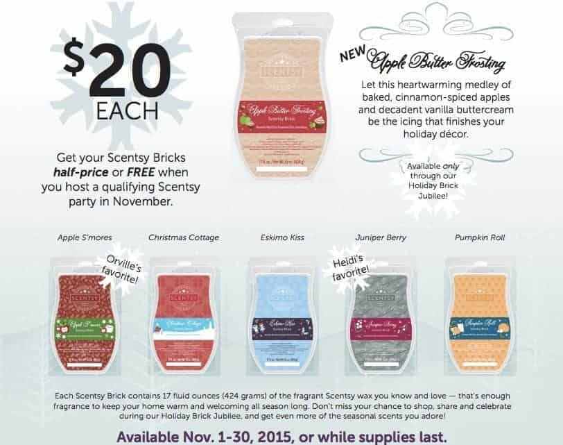 scentsy bricks sale