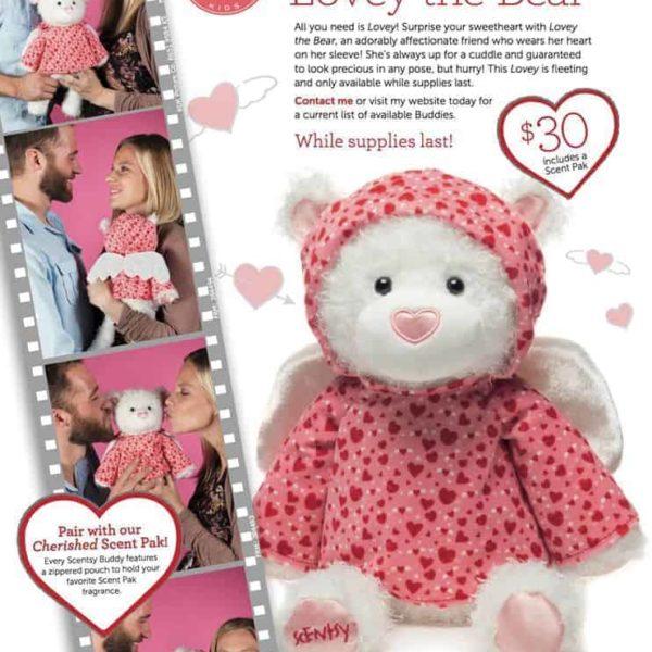 Lovey Bear Scentsy Valentines Buddy