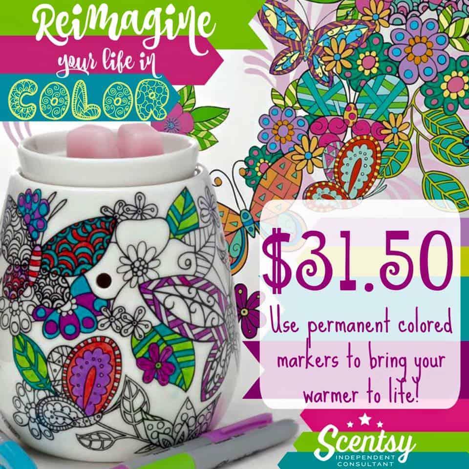 Scentsy Reimagine Coloring Warmer Diy