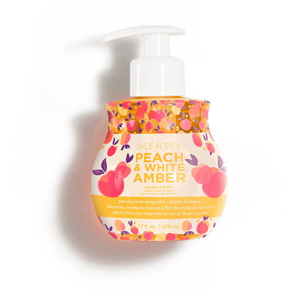 Peach & White Amber