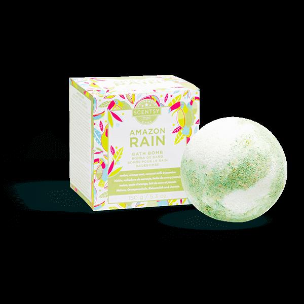scentsy bath bomb rain