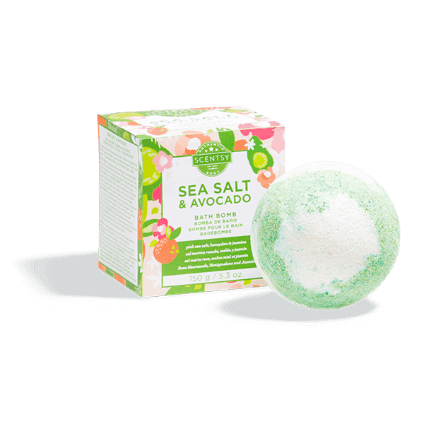 Bath Bomb Scentsy Sea Salt Avocado