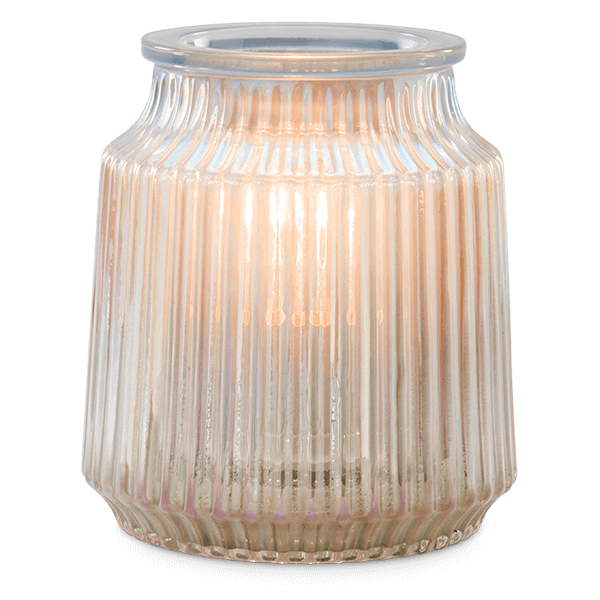 scentsy fluted gray
