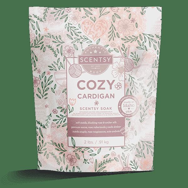 scentsy cozy cardigan soaks