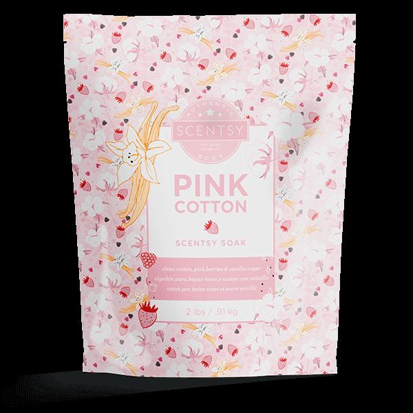 pink cotton bath soaks