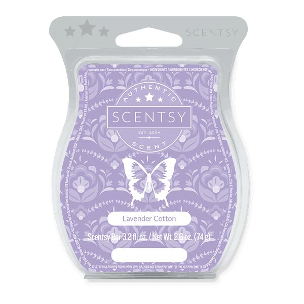 scentsy lavender cotton wax bar