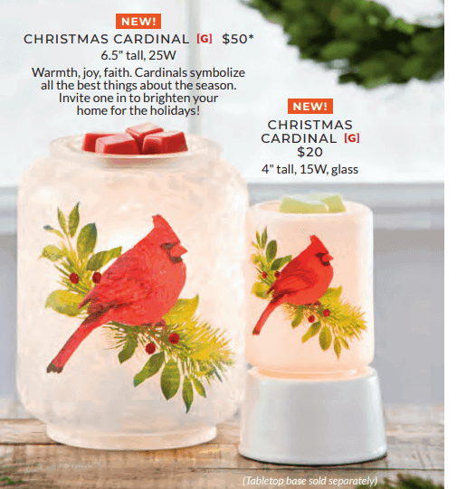 scentsy holiday bird