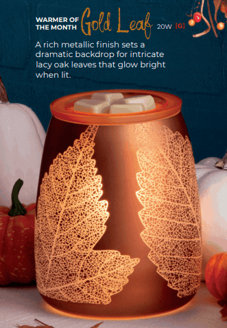 scentsy october gold warmer