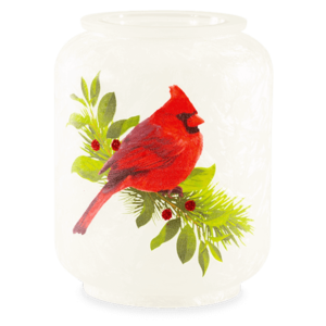 Christmas Cardinals Candle Warmer