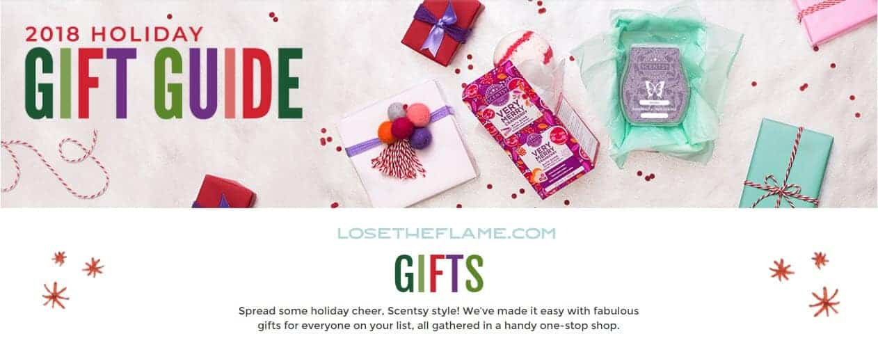 scentsy holiday gift guide banner