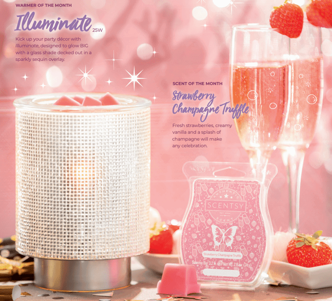 scentsy January warmer illuminate