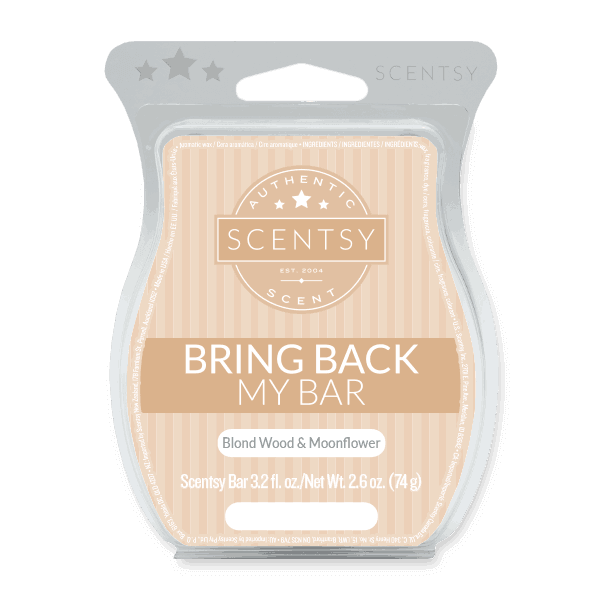 scentsy blond wood and moonflower scent