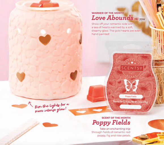 New Scentsy® Love Abounds Warmer of the Month February 2019