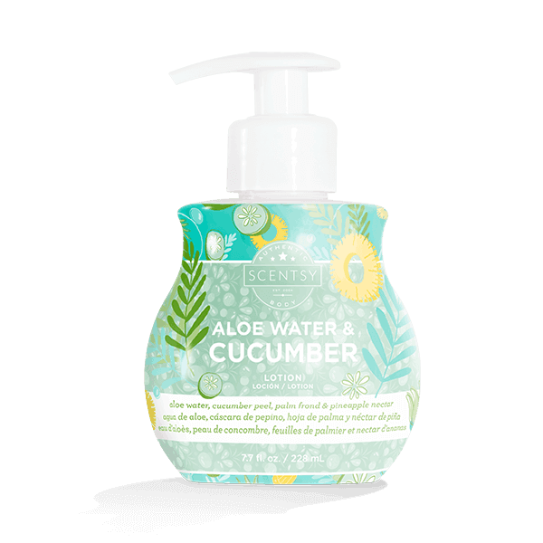 Scentsy Aloe Water & Cucumber Lotion