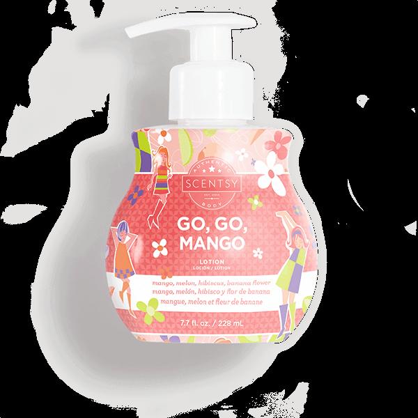 scentsy go go mango lotion