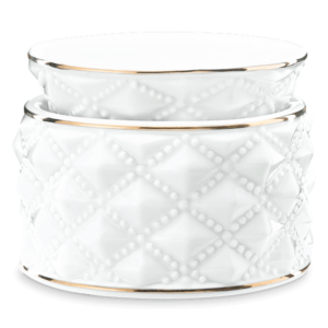 Diamond Milk Glass