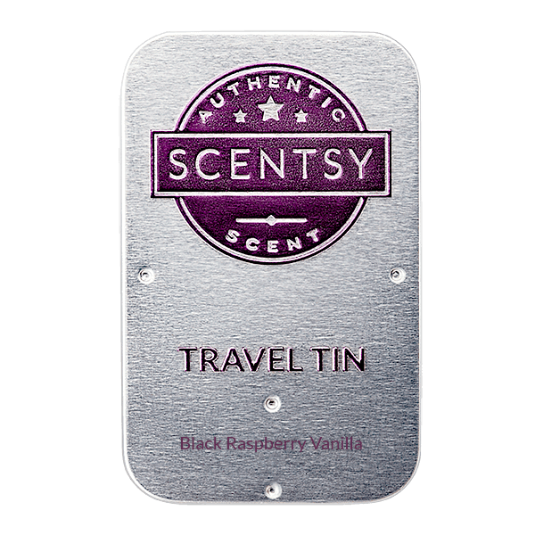 scentsy black raspberry travel tin