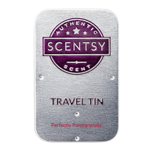scentsy travel tin perfectly pomegranate