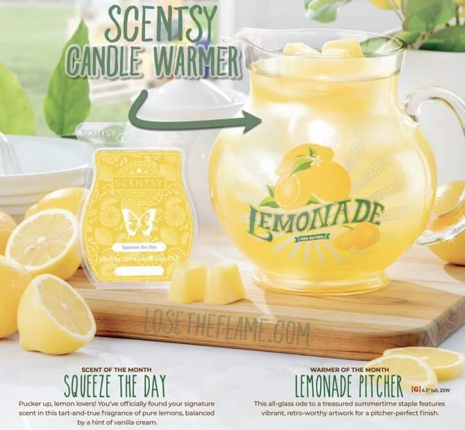 scentsy lemonade pitcher for June