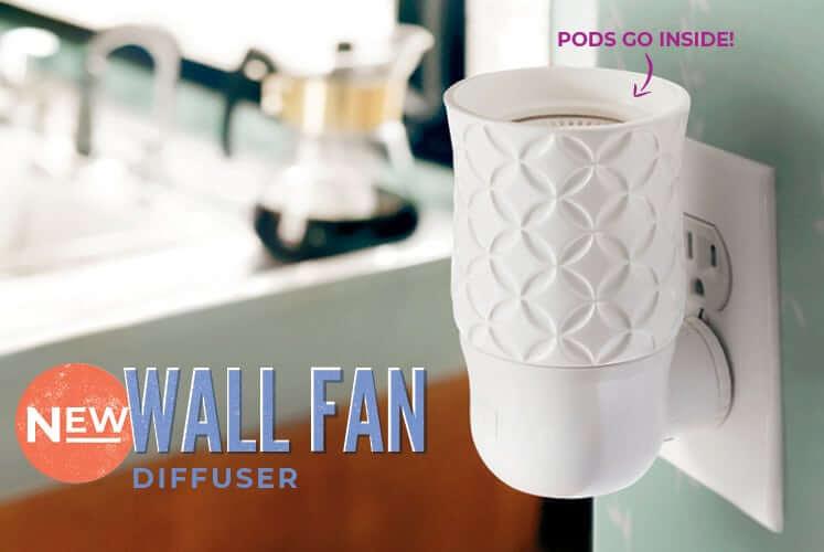 scentsy wall fan new