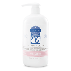 pink cotton scentsy laundry