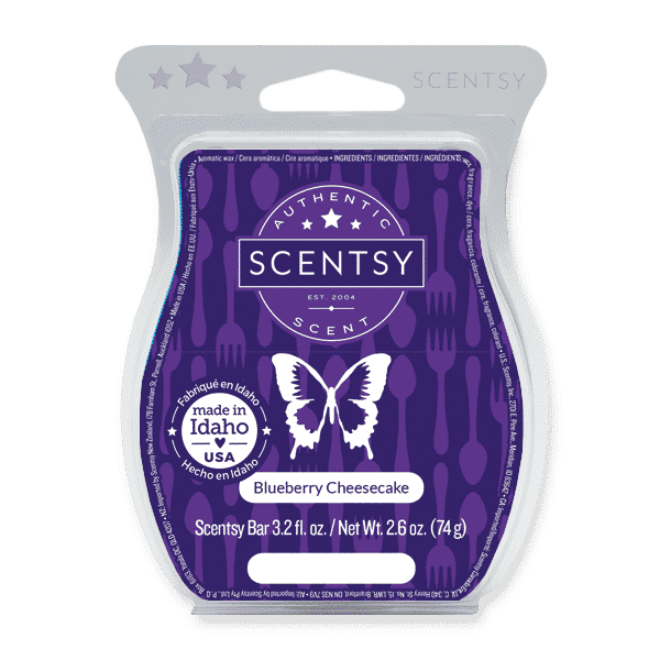 scentsy blueberry cheesecake wax