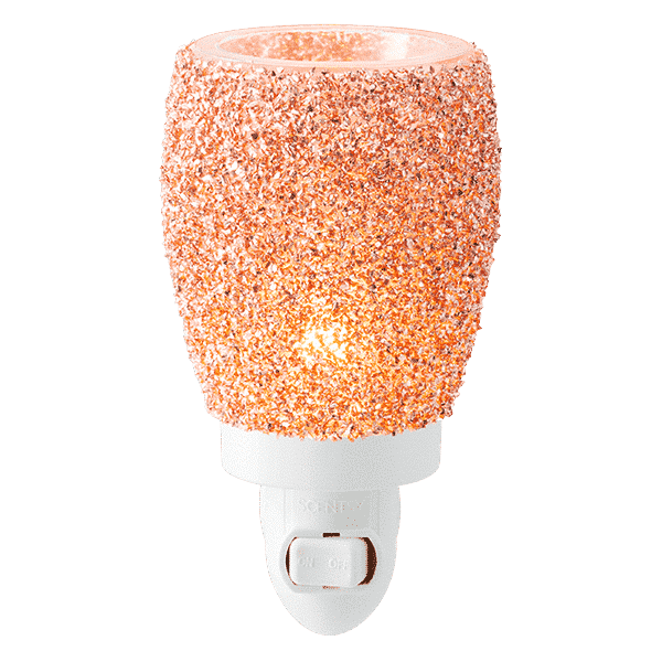 Glitter Rose Gold Mini Warmer