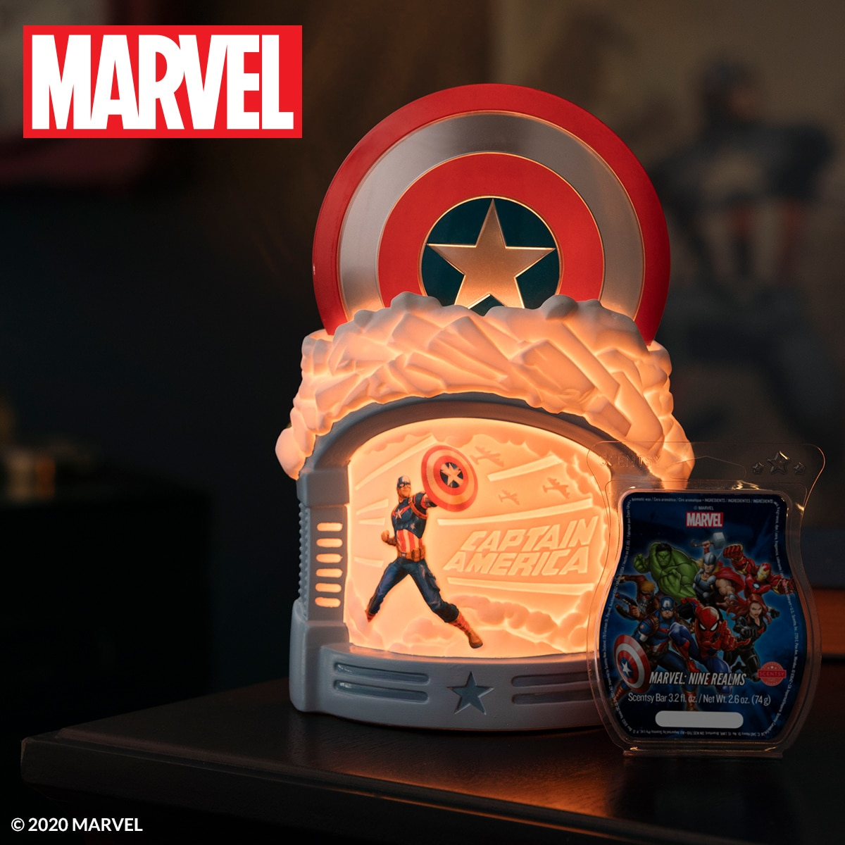 scentsy captain america warmer on