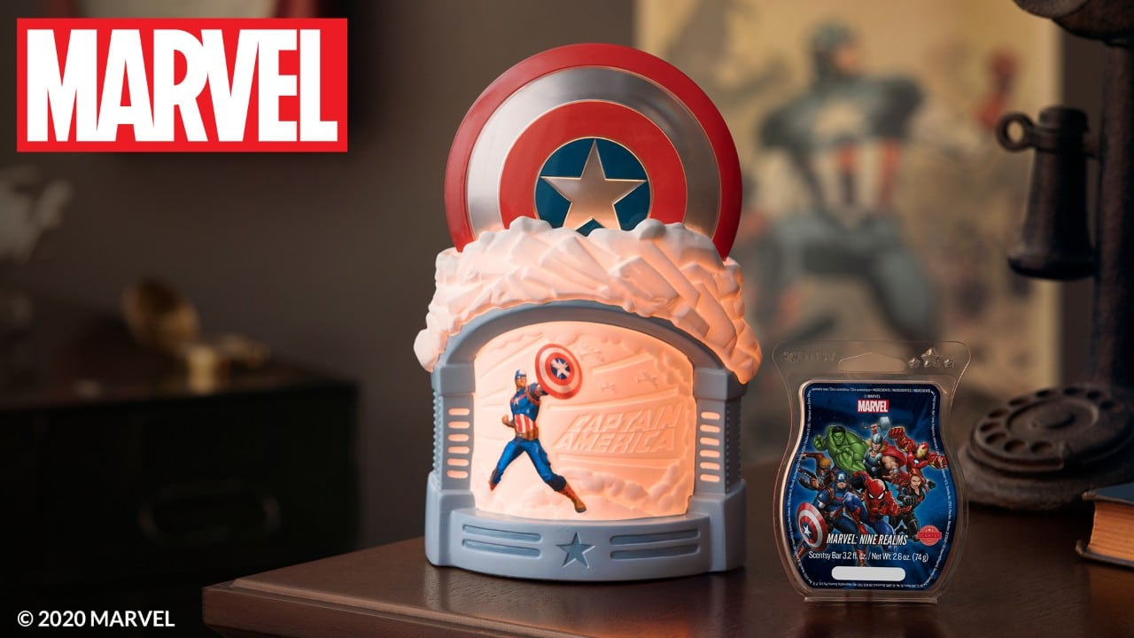 captain america scentsy warmer