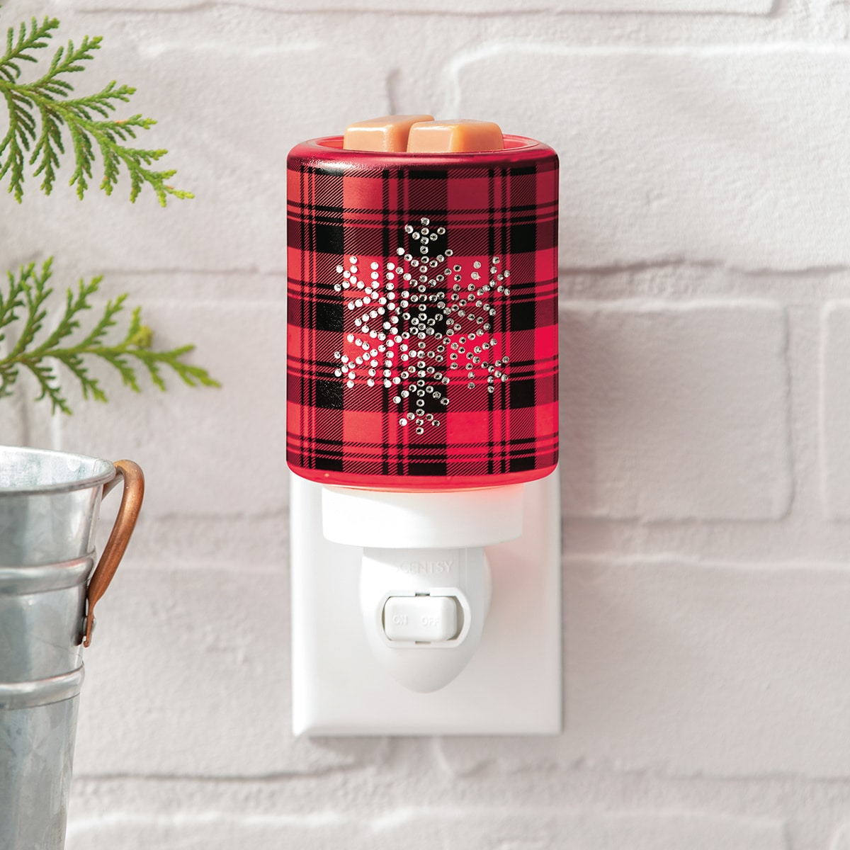 plaid flannel holiday scentsy warmer