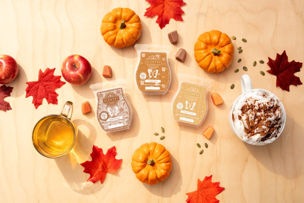 Scentsy Fall Scent Collection Bright Cider Life Pumpkin