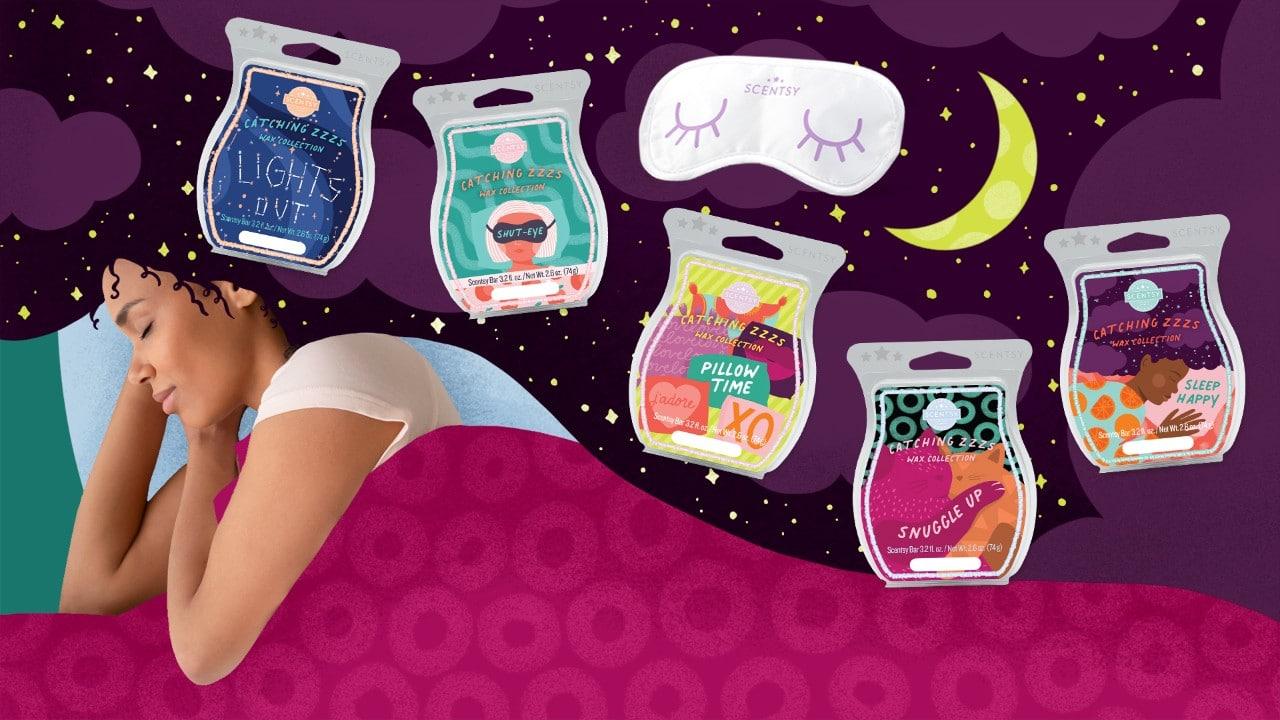 scentsy sleep wax collection