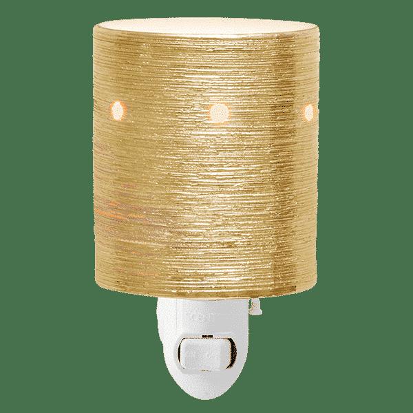 gold mini etched core mini warmer