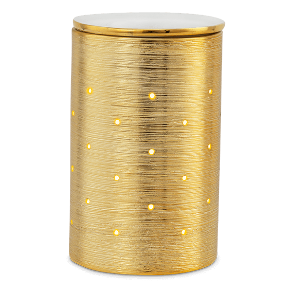 scentsy full size warmer gold etched core
