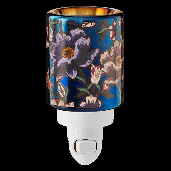 scentsy midnight floral mini warmer