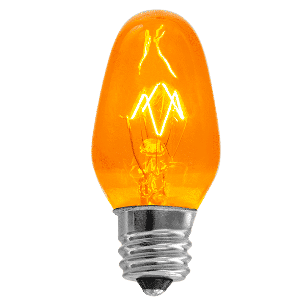 orange scentsy bulb