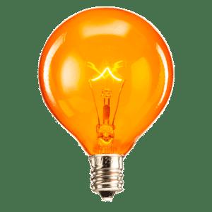 orange light bulb 25 watt