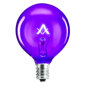purple scentsy light bulb