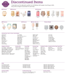 Scentsy list of discontinued