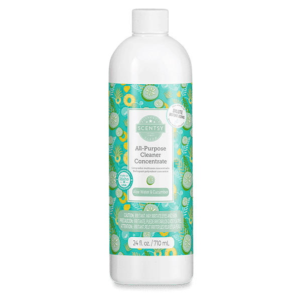 scentsy all purpose cleaner aloe water cucumber