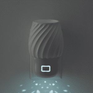 swivel wall fan light in dark