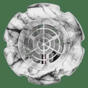 top view marble white fan